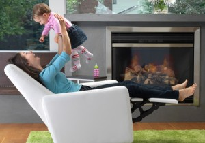 Nursery glider recliner chair supports you well even when you play or feed your baby