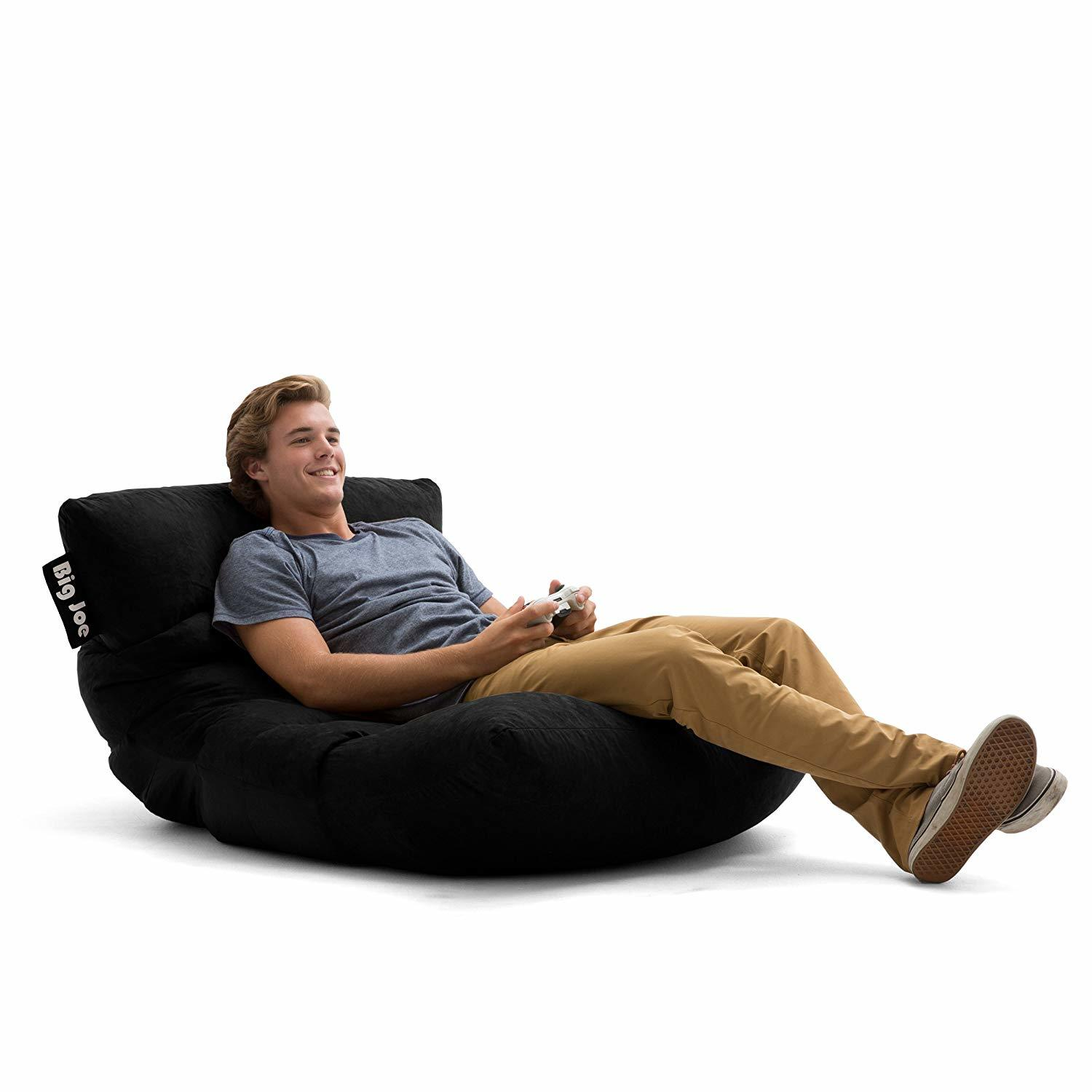 Best Bean Bag Chairs Big Joe 0657378 Roma in Comfort Suede Plus Bean Bag.  They say you get what ... 79cabe884c463